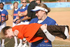 photo by Tim Casey<br /> <br /> Florida senior Kim Waleszonia plays with coach Tim Walton's son during the Gator softball team's Swinging for Cancer event on Sunday, February 1, 2009 at Katie Seashole Pressly Softball Stadium in Gainesville, Fla.