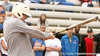photo by Tim Casey<br /> <br /> Florida men's basketball head coach Billy Donovan gets a hit during the Gator softball team's Swinging for Cancer event on Sunday, February 1, 2009 at Katie Seashole Pressly Softball Stadium in Gainesville, Fla.