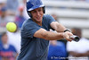 photo by Tim Casey<br /> <br /> Florida tennis player Johnny Hamui smings during the Gator softball team's Swinging for Cancer event on Sunday, February 1, 2009 at Katie Seashole Pressly Softball Stadium in Gainesville, Fla.