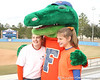 photo by Tim Casey<br /> <br /> Albert poses for a photo with fans during the Gator softball team's Swinging for Cancer event on Sunday, February 1, 2009 at Katie Seashole Pressly Softball Stadium in Gainesville, Fla.