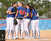 photo by Tim Casey<br /> <br /> Florida players huddle prior to facing Ahmad Black during the Gator softball team's Swinging for Cancer event on Sunday, February 1, 2009 at Katie Seashole Pressly Softball Stadium in Gainesville, Fla.