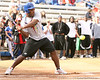 photo by Tim Casey<br /> <br /> Florida football alumnus Eric Rutledge bats during the Gator softball team's Swinging for Cancer event on Sunday, February 1, 2009 at Katie Seashole Pressly Softball Stadium in Gainesville, Fla.