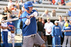 photo by Tim Casey<br /> <br /> Florida baseball head coach Kevin O'Sullivan bats during the Gator softball team's Swinging for Cancer event on Sunday, February 1, 2009 at Katie Seashole Pressly Softball Stadium in Gainesville, Fla.
