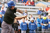 photo by Tim Casey<br /> <br /> Florida coach Tim Walton bats during the Gator softball team's Swinging for Cancer event on Sunday, February 1, 2009 at Katie Seashole Pressly Softball Stadium in Gainesville, Fla.