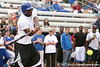photo by Tim Casey<br /> <br /> Florida football's Dorian Munroe bats during the Gator softball team's Swinging for Cancer event on Sunday, February 1, 2009 at Katie Seashole Pressly Softball Stadium in Gainesville, Fla.