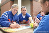 photo by Tim Casey<br /> <br /> Florida sophomore Kristine Priebe autographs a poster during the Gator softball team's Swinging for Cancer event on Sunday, February 1, 2009 at Katie Seashole Pressly Softball Stadium in Gainesville, Fla.