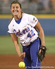 Florida senior pitcher Stacey Nelson releases the ball during the first inning of the Gators' 3-0 win against the Arizona Wildcats in the Women's College World Series on Thursday, May 28, 2009 at the ASA Hall of Fame Stadium in Oklahoma City / Gator Country photo by Tim Casey