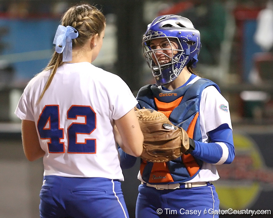 during the Gators' 3-0 win against the Arizona Wildcats in the Women's College World Series on Thursday, May 28, 2009 at the ASA Hall of Fame Stadium in Oklahoma City / Gator Country photo by Tim Casey