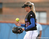 photo by Tim Casey<br /> <br /> Florida sophomore pitcher Stephanie Brombacher tosses the ball in the air during the second inning of the Gators' 10-5 win against the Pacific Tigers on Friday, February 27, 2009 at Katie Seashole Pressly Softball Stadium in Gainesville, Fla.