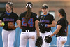 photo by Tim Casey<br /> <br /> Florida players huddle after a strikeout during the second inning of the Gators' 10-5 win against the Pacific Tigers on Friday, February 27, 2009 at Katie Seashole Pressly Softball Stadium in Gainesville, Fla.