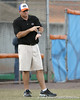 photo by Tim Casey<br /> <br /> Florida head coach Tim Walton gives a signal during the first inning of the Gators' 10-5 win against the Pacific Tigers on Friday, February 27, 2009 at Katie Seashole Pressly Softball Stadium in Gainesville, Fla.