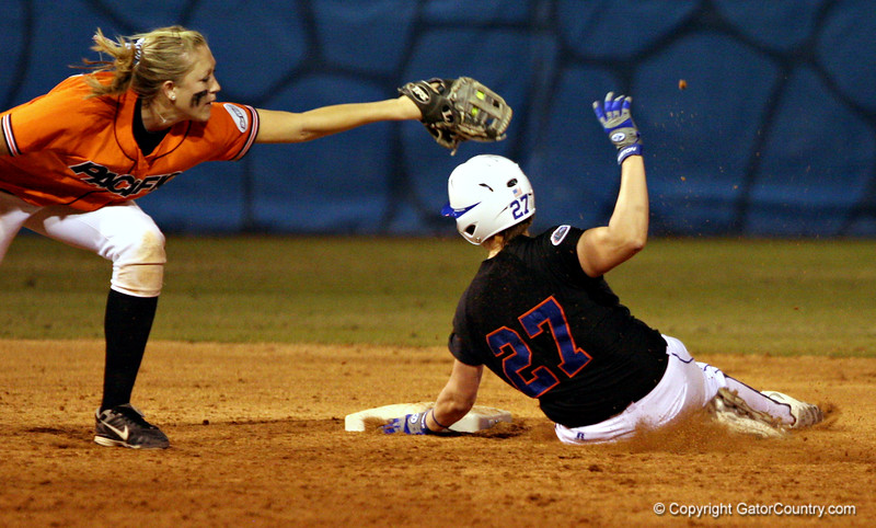(Jeff Squires / Gator Country) during the University of Florida's game against Pacific. The Gators defeated the Tigers 10 to 5, on Friday, February 27, 2009 during the Cox Invitational at Katie Seashole Pressly Stadium.