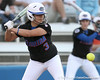 photo by Tim Casey<br /> <br /> Florida sophomore second baseman Aja Paculba bats during the second inning of the Gators' 10-5 win against the Pacific Tigers on Friday, February 27, 2009 at Katie Seashole Pressly Softball Stadium in Gainesville, Fla.