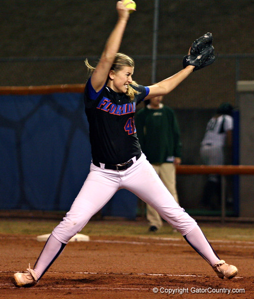 (Jeff Squires / Gator Country) during the University of Florida's game against South Florida. The Gators defeated the Bulls 8 to 0, on Friday, February 27, 2009 during the Cox Invitational at Katie Seashole Pressly Stadium.