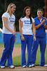 Sophomores Stephanie Brombacher, Kelsey Bruder and Tiffany DeFelice stands together on the field of Katie Seashole Pressly Stadium in Gainesville, Fla. on Wednesday, June 3, 2009 after the teams' return from the College World Series in Oklahoma City. / Gator Country photo by Casey Brooke Lawson