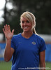 UF Softball Assistant Coach Jenny Gladding stands on the field of Katie Seashole Pressly Stadium in Gainesville, Fla. on Wednesday, June 3, 2009 after the teams' return from the College World Series in Oklahoma City. / Gator Country photo by Casey Brooke Lawson