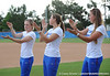 Senior center fielder Kim Waleszonia, senior catcher Kristina Hilberth, senior pitcher Stacey Nelson do the Gator chomp while standing on the field of Katie Seashole Pressly Stadium in Gainesville, Fla. on Wednesday, June 3, 2009 after the teams' return from the College World Series in Oklahoma City. / Gator Country photo by Casey Brooke Lawson