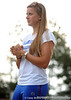 Senior pitcher Stacey Nelson grasps her hands while standing on the field of Katie Seashole Pressly Stadium in Gainesville, Fla. on Wednesday, June 3, 2009 after the teams' return from the College World Series in Oklahoma City. / Gator Country photo by Casey Brooke Lawson