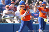 photo by Tim Casey<br /> <br /> Florida sophomore second baseman Aja Paculba hits a home run during the fifth inning of the Gators' 8-0 win against the Baylor Bears on Saturday, February 7, 2009 at Katie Seashole Pressly Softball Stadium in Gainesville, Fla.