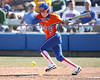 photo by Tim Casey<br /> <br /> Florida senior centerfielder Kim Waleszonia drops down a bunt during the fourth inning of the Gators' 8-0 win against the Baylor Bears on Saturday, February 7, 2009 at Katie Seashole Pressly Softball Stadium in Gainesville, Fla.