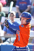 photo by Tim Casey<br /> <br /> Florida senior centerfielder Kim Waleszonia hits a home run in the second inning during the Gators' 8-0 win against the Baylor Bears on Saturday, February 7, 2009 at Katie Seashole Pressly Softball Stadium in Gainesville, Fla.
