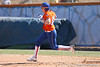 photo by Tim Casey<br /> <br /> Florida junior third baseman Corrie Brooks runs out a double in the second inning aduring the Gators' 8-0 win against the Baylor Bears on Saturday, February 7, 2009 at Katie Seashole Pressly Softball Stadium in Gainesville, Fla.