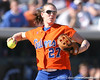 photo by Tim Casey<br /> <br /> Florida junior third baseman Corrie Brooks throws the ball after catching a fly ball during the fifth inning of the Gators' 8-0 win against the Baylor Bears on Saturday, February 7, 2009 at Katie Seashole Pressly Softball Stadium in Gainesville, Fla.