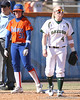 photo by Tim Casey<br /> <br /> Florida senior catcher Kristina Hilberth stands on third base during the sixth inning of the Gators' 8-0 win against the Baylor Bears on Saturday, February 7, 2009 at Katie Seashole Pressly Softball Stadium in Gainesville, Fla.