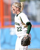 photo by Tim Casey<br /> <br /> Baylor second baseman Meagan Weldon stands ready during the fifth inning of the Gators' 8-0 win against the Bears on Saturday, February 7, 2009 at Katie Seashole Pressly Softball Stadium in Gainesville, Fla.