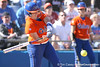 photo by Tim Casey<br /> <br /> Florida sophomore Tiffany DeFelice grounds out to shortstop during the fifth inning of the Gators' 8-0 win against the Baylor Bears on Saturday, February 7, 2009 at Katie Seashole Pressly Softball Stadium in Gainesville, Fla.
