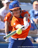 photo by Tim Casey<br /> <br /> Florida sophomore second baseman Aja Paculba hits a walk-off RBI double during the sixth inning Gators' 8-0 win against the Baylor Bears on Saturday, February 7, 2009 at Katie Seashole Pressly Softball Stadium in Gainesville, Fla.