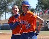 photo by Tim Casey<br /> <br /> Florida sophomore second baseman Aja Paculba congratulates junior left fielder Francesca Enea for hitting a home run during the Gators' 8-0 win against the Baylor Bears on Saturday, February 7, 2009 at Katie Seashole Pressly Softball Stadium in Gainesville, Fla.