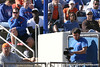 photo by Tim Casey<br /> <br /> Florida football strength coach and junior safety Ahmad Black watch from the stands during the Gators' 8-0 win against the Baylor Bears on Saturday, February 7, 2009 at Katie Seashole Pressly Softball Stadium in Gainesville, Fla.