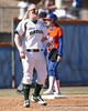photo by Tim Casey<br /> <br /> Baylor third basemen Brette Reagan yells encouragement to her teammates during the fifth inning of the Gators' 8-0 win against the Bears on Saturday, February 7, 2009 at Katie Seashole Pressly Softball Stadium in Gainesville, Fla.