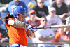 photo by Tim Casey<br /> <br /> Florida sophomore Kelsey Bruder fouls back a pitch during the fifth inning of the Gators' 8-0 win against the Baylor Bears on Saturday, February 7, 2009 at Katie Seashole Pressly Softball Stadium in Gainesville, Fla.