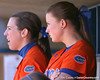 photo by Tim Casey<br /> <br /> Florida senior pitcher Stacey Nelson watches from the dugout during the fourth inning of the Gators' 8-0 win against the Baylor Bears on Saturday, February 7, 2009 at Katie Seashole Pressly Softball Stadium in Gainesville, Fla.