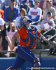 photo by Tim Casey<br /> <br /> Florida sophomore Tiffany DeFelice gets under a pop up during the fourth inning of the Gators' 8-0 win against the Baylor Bears on Saturday, February 7, 2009 at Katie Seashole Pressly Softball Stadium in Gainesville, Fla.
