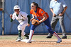 photo by Tim Casey<br /> <br /> Florida junior third baseman Corrie Brooks gets ready for a play during the sixth inning of the Gators' 8-0 win against the Baylor Bears on Saturday, February 7, 2009 at Katie Seashole Pressly Softball Stadium in Gainesville, Fla.