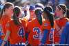 photo by Tim Casey<br /> <br /> Florida sophomore shortstop Megan Bush returns to the dugout after making a sacrifice bunt  in the second inning aduring the Gators' 8-0 win against the Baylor Bears on Saturday, February 7, 2009 at Katie Seashole Pressly Softball Stadium in Gainesville, Fla.
