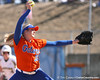 photo by Tim Casey<br /> <br /> Florida sophomore pitcher Stephanie Brombacher delivers a pitch during the fourth inning of the Gators' 8-0 win against the Baylor Bears on Saturday, February 7, 2009 at Katie Seashole Pressly Softball Stadium in Gainesville, Fla.