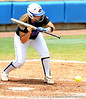 Sophomore catcher Tiffany DeFelice bats during the the No. 1/1 Florida softball team's defeat of the No. 14/16 Cal Golden Bears 2-1 in the second game of the Gainesville Super Regional Sunday, May 24, 2009 in Gainesville, Fla. at Katie Seashole Pressly Stadium. The win improved the Gators to a 60-3 overall for the season and cinched their second-consecutive trip to Oklahoma City for the WomenÕs College World Series. / Gator Country photo by Casey Brooke Lawson