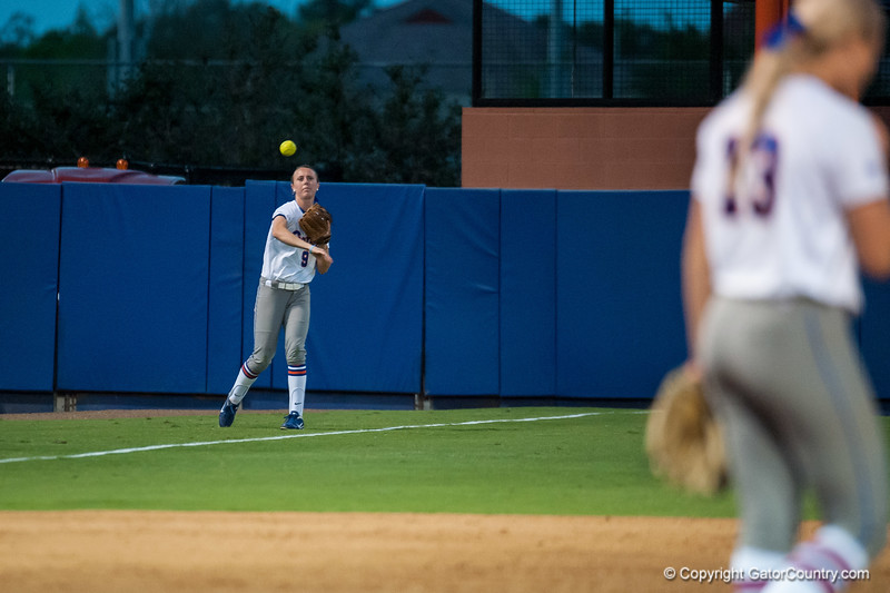 Florida Sophomore Kasey Fagan throws to 2ns base during the Gators' 9-1 win against the South Carolina Gamecocks on Friday, March 16, 2012 at the Katie Seashole Pressly Softball Stadium in Gainesville, Fla. / Gator Country photo by Saj Guevara