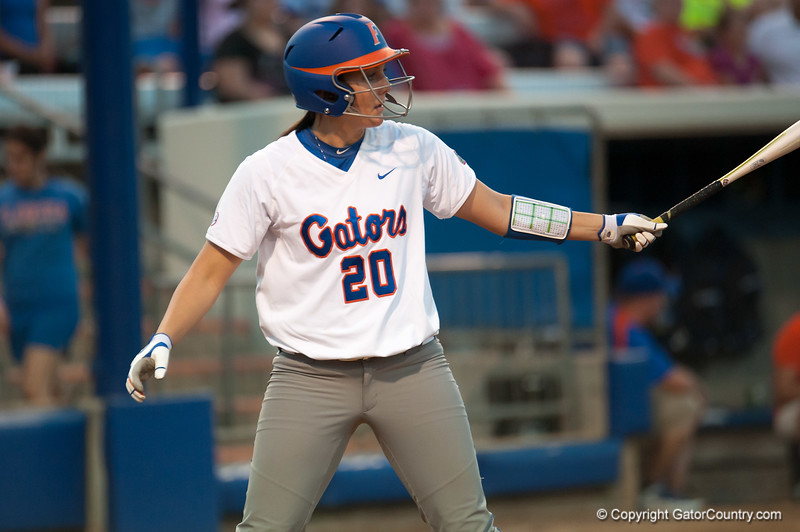 Florida junior Kelsey Horton at bat during the Gators' 9-1 win against the South Carolina Gamecocks on Friday, March 16, 2012 at the Katie Seashole Pressly Softball Stadium in Gainesville, Fla. / Gator Country photo by Saj Guevara