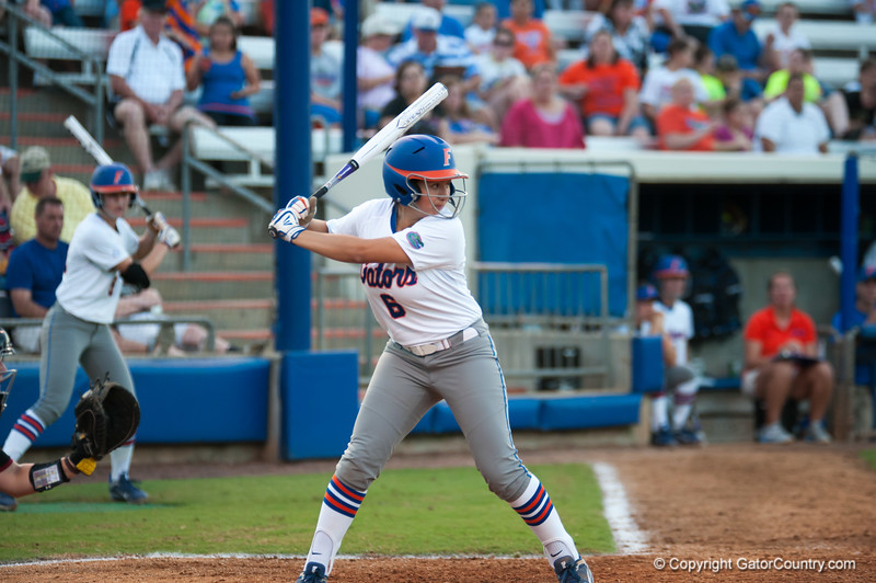 Florida freshman Katie Medina  at bat during the Gators' 9-1 win against the South Carolina Gamecocks on Friday, March 16, 2012 at the Katie Seashole Pressly Softball Stadium in Gainesville, Fla. / Gator Country photo by Saj Guevara