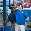 Florida head coach Tim Walton complains to an umpire during the Gators' 9-1 win against the South Carolina Gamecocks on Friday, March 16, 2012 at the Katie Seashole Pressly Softball Stadium in Gainesville, Fla. / Gator Country photo by Saj Guevara