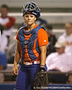 Florida junior catcher Tiffany DeFelice looks to the dugout during the Gators' 8-4 exhibition game win against the Santa Fe College Saints on Thursday, November 5, 2009 at Katie Seashole Pressly Softball Stadium in Gainesville, Fla. / Gator Country photo by Tim Casey