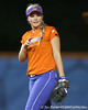 Florida junior shortstop Megan Bush talks to Aja Paculba during the Gators' 8-4 exhibition game win against the Santa Fe College Saints on Thursday, November 5, 2009 at Katie Seashole Pressly Softball Stadium in Gainesville, Fla. / Gator Country photo by Tim Casey