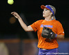 Florida junior shortstop Megan Bush throws the ball during the Gators' 8-4 exhibition game win against the Santa Fe College Saints on Thursday, November 5, 2009 at Katie Seashole Pressly Softball Stadium in Gainesville, Fla. / Gator Country photo by Tim Casey