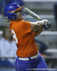 Florida junior catcher Tiffany DeFelice bats during the Gators' 8-4 exhibition game win against the Santa Fe College Saints on Thursday, November 5, 2009 at Katie Seashole Pressly Softball Stadium in Gainesville, Fla. / Gator Country photo by Tim Casey