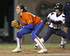 Florida senior third baseman Corrie Brooks stands ready during the Gators' 8-4 exhibition game win against the Santa Fe College Saints on Thursday, November 5, 2009 at Katie Seashole Pressly Softball Stadium in Gainesville, Fla. / Gator Country photo by Tim Casey